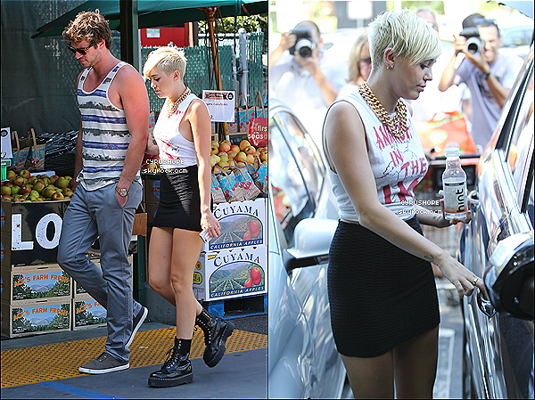 . 11/09/2012 - Miley et Liam ont �t� rep�r�s chez Whole Foods dans Los Angeles..