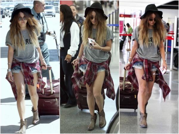 Za-Nessa-Source(28.08.13) Vanessa, sur le départ, à l'aéroport de Los Angeles.Za-Nessa-Source