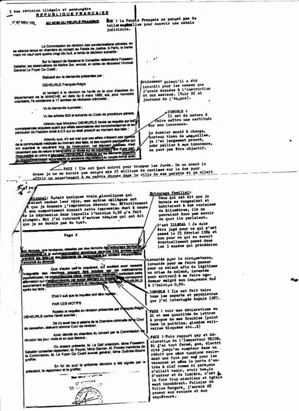 Cinquième révision illégale et mensongère