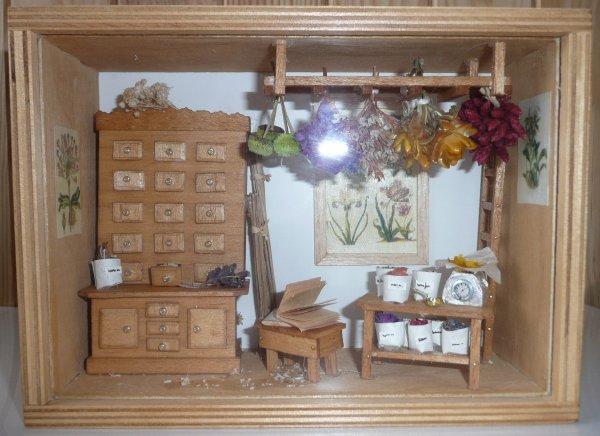 mini vitrine herboriste loisirs cr atifs. Black Bedroom Furniture Sets. Home Design Ideas