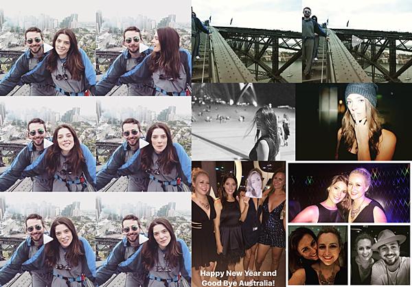 .  31.12.2016 |  Ashley a célébré le nouvel an à la boîte de nuit Marquee à Sydney, en Australie ! En plus de fêter les 50 ans de sa maman, Ashley a fait la fête dans une boîte de nuit à Sydney dans une magnifique robe noire à froufrous. De plus, durant toute la journée, elle et ses amis n'ont pas cessés de poster des vidéos et des photos dans laquelle on peut la voir. Tout d'abord, découvrez les captures d'écrans ainsi que le lien un peu plus bas - de la vidéo dans laquelle, elle nous souhaite à tous une très bonne année en compagnie de Paul en haut du pont Harbour face à l'Opéra de Sydney. Découvrez également deux captures d'écrans où on voit le couple descendre des escaliers sur le pont. Ensuite, découvrez deux photos de la belle qu'elle et Paul ont postés sur leurs comptes Instagram respectifs. Elle est vraiment magnifique dessus ! Les deux dernières photos ont été postés par Rhiannon et Caitie, on peut à nouveau voir Ashley à la soirée à la boîte de nuit Marquee. Comment trouvez-vous Ashley sur tous ces clichés ? :)   .