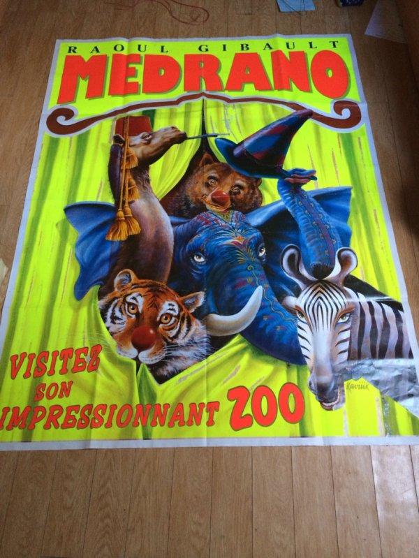 affiche murale cirque medrano 1999 place du cirque les passionn s s 39 y retrouvent. Black Bedroom Furniture Sets. Home Design Ideas