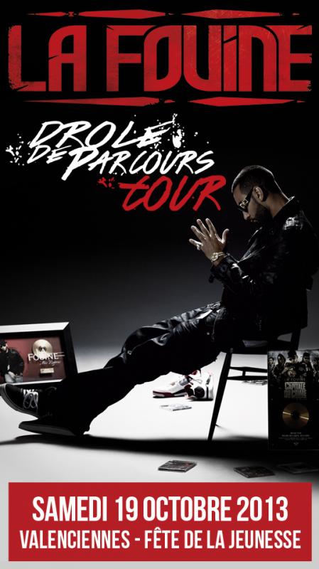 """La Fouine en concert le 19 octobre � Valenciennes � """"La f�te de la jeunesse"""""""