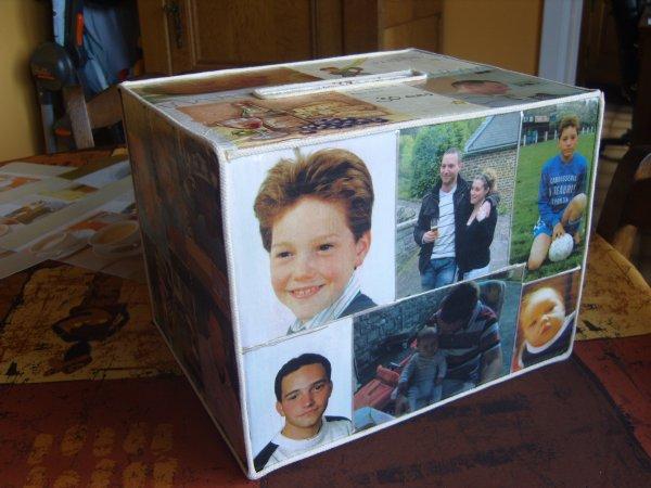 Urne d 39 anniversaire pour les 30 ans de mon fils cadet mes passions - Fabriquer une urne anniversaire ...