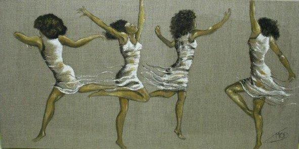 danseuses sur toile de lin