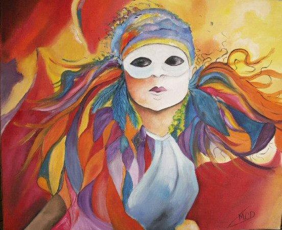 Masque de venise peinture a l huile de marie c d - Masque a peinture ...