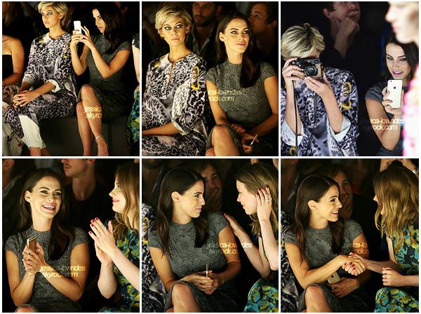 12 septembre 2015 :    Jessica a point� le bout de son nez, au 3e jour de la Fashion Week � NY.