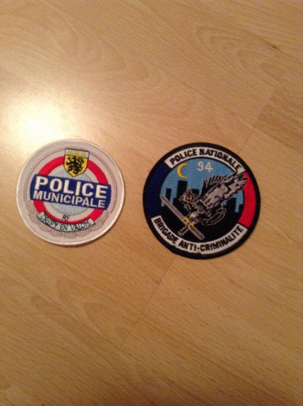Ecusson police municipale cr�py en valois en de la BAC 94 nuit