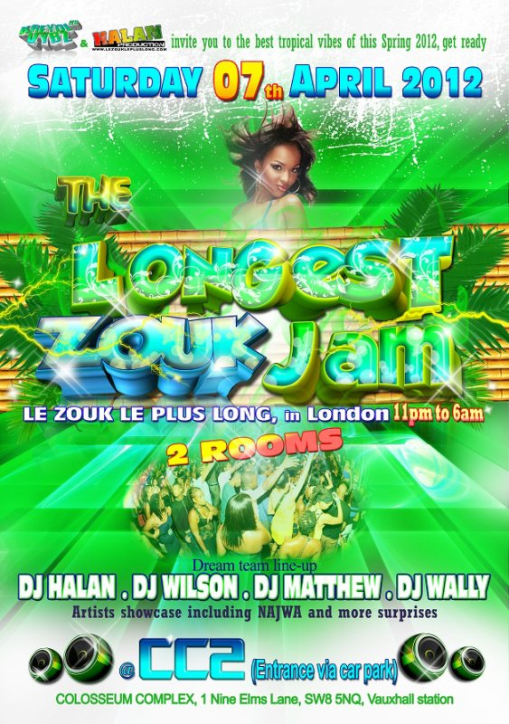 LE ZOUK LE PLUS LONG a Londres- LONGEST ZOUK JAM 2012
