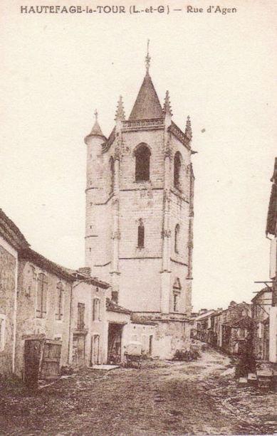 La tour de hautefage sur une ancienne carte postale