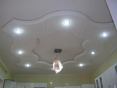Plafond pour cuisine platre deco for Deco cuisine haut plafond