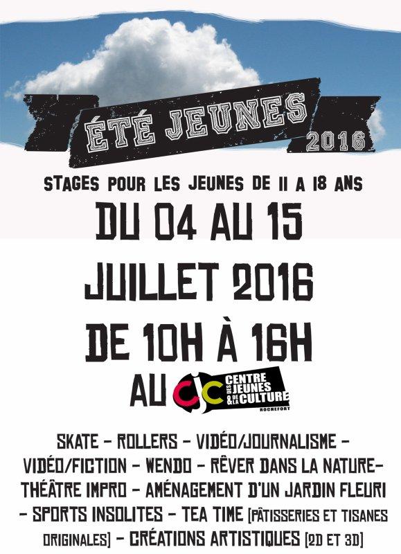 Stages Et� Jeunes 2016