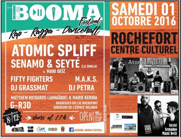 Booma festival - Rap Ragga Dancehall - Samedi 1er ocobre 2016