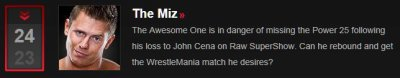 TheMiz au WWE Raw du 05/03/2012 [+ Miz au P25]