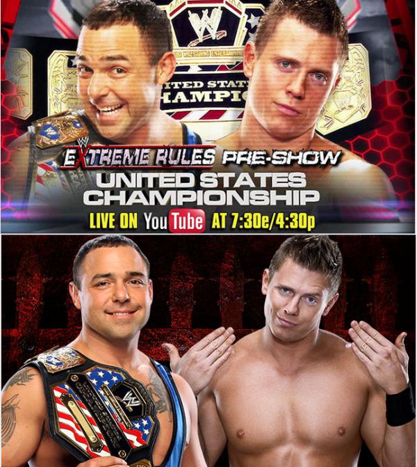 The Miz Vs Santino Marella [US Champ'] à Extreme Rules !