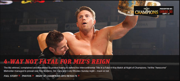 Night Of Champions : The Miz reste Intercontinental Champion! [+ Highlights Night Of Champions]