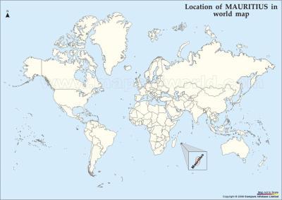 carte du monde ile maurice - Image