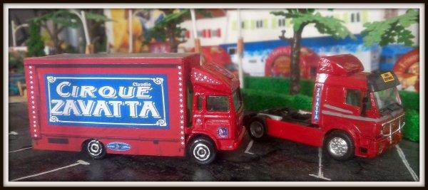 Nouvelle maquette !!! Le cirque Claudio ZAVATTA 1/87, voici les 1er camions