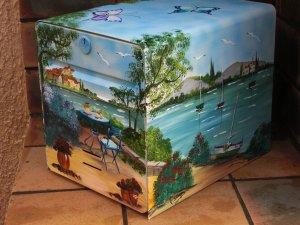 Peinture sur bo te aux lettres blog de js atelier - Peindre boite aux lettres ...