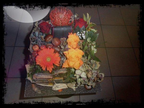 composition d 39 automne faite au cours d 39 art floral blog d 39 art floral. Black Bedroom Furniture Sets. Home Design Ideas