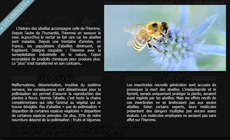 • Les abeilles