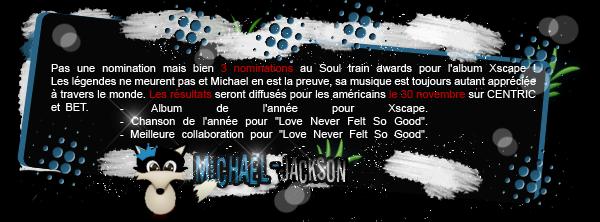 News : 14 octobre 2014 : L'album Xscape nominé pour un award ?