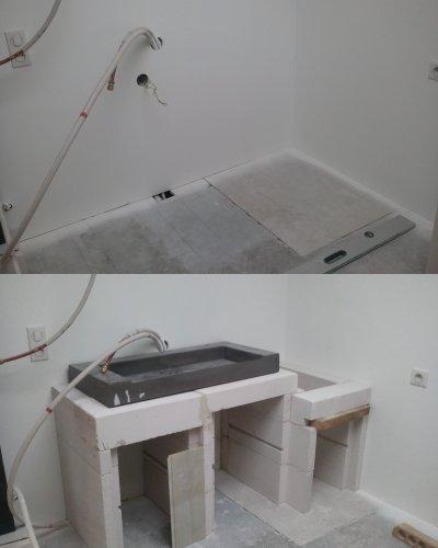 Meuble Pour La Vasque De La Salle De Bain L 39 Atelier De