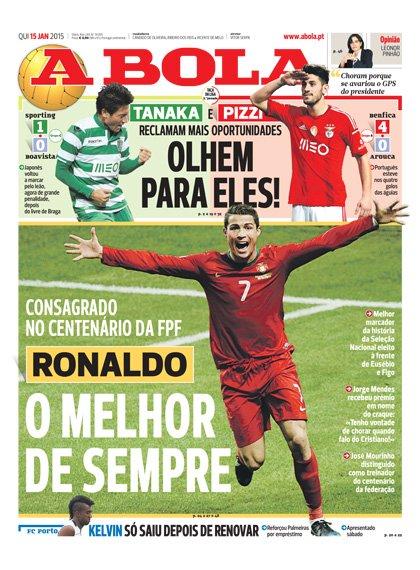 Cristiano Ronaldo consacr� meilleur joueur Portugais de l'histoire !
