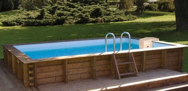Piscine bois semi enterr e 5x3 for Dimension piscine semi enterree