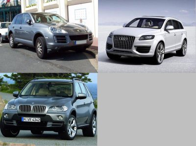 bmw x5 vs audi q7 vs porsche cayenne 50 cent. Black Bedroom Furniture Sets. Home Design Ideas