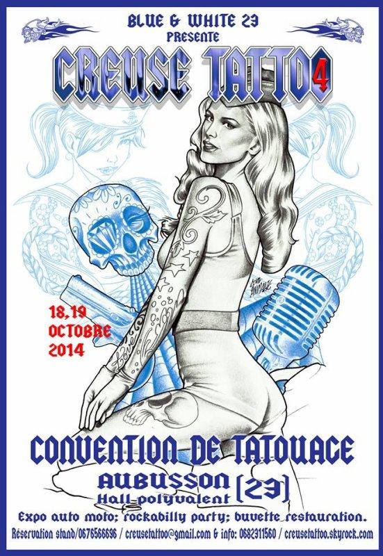 RENDEZ VOUS  pour le CREUSE TATTOO 4 !!!!!! 18 et 19 OCTOBRE 2014