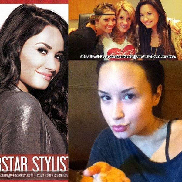 Photos poster par Demi sur Twitter + Scan d'un magasine.