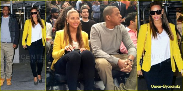 Beyonc� at the Nets game 20/02