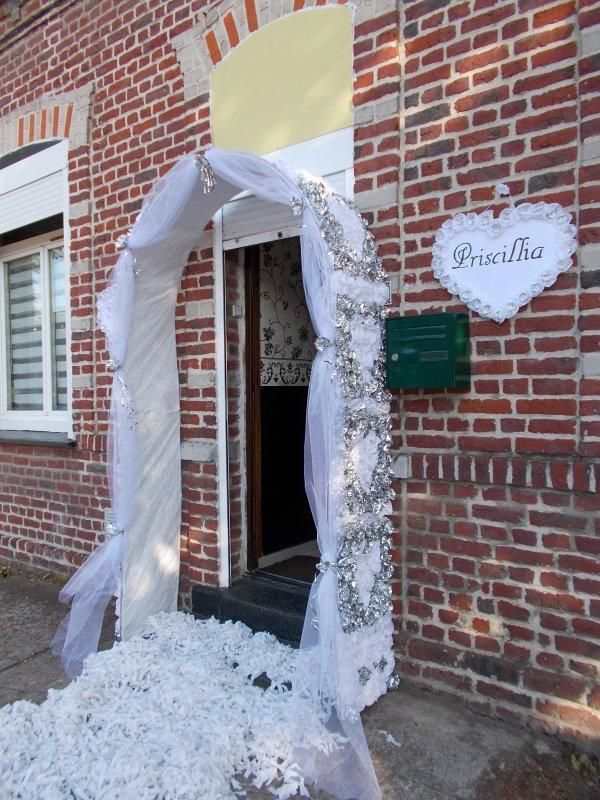 Mariage gr gory et priscillia 9 juillet 2016 jonchure for Decoration porte entree pour mariage