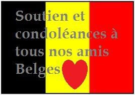 condoleances a nos amis belge