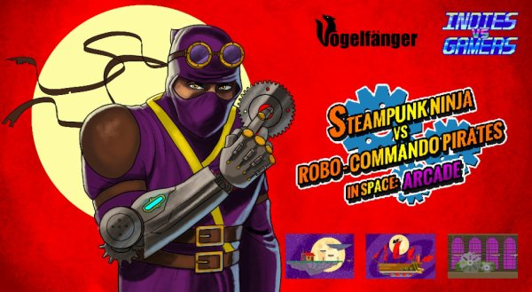 Steampunk Ninja vs. Robo-Commando Pirates in Space: Arcade