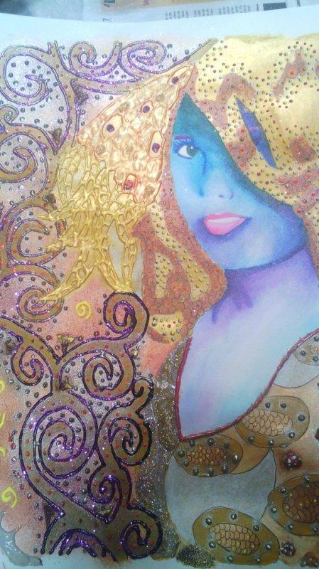 portrait a la Klimt