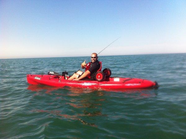 1ère sortie kayak en mer