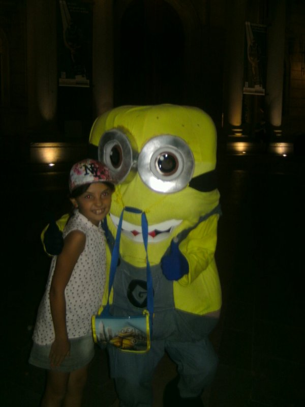 Ma fille et minions