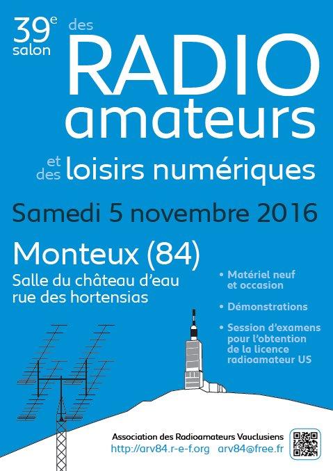 Le 39 eme Salon Radioamateur de MONTEUX sera le Samedi 5 Novembre 2016