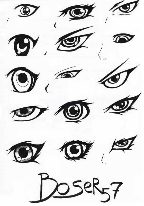 Most view pict tuto comment dessiner des yeux mangas - Dessin yeux facile ...