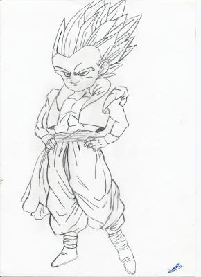 Dragon ball z ma passion le dessin - Coloriage sangohan ...