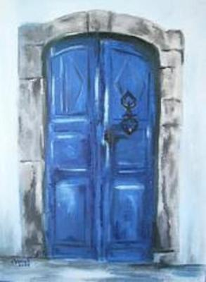 La porte bleue chanah artiste peintre vous invite - La porte bleue en belgique ...