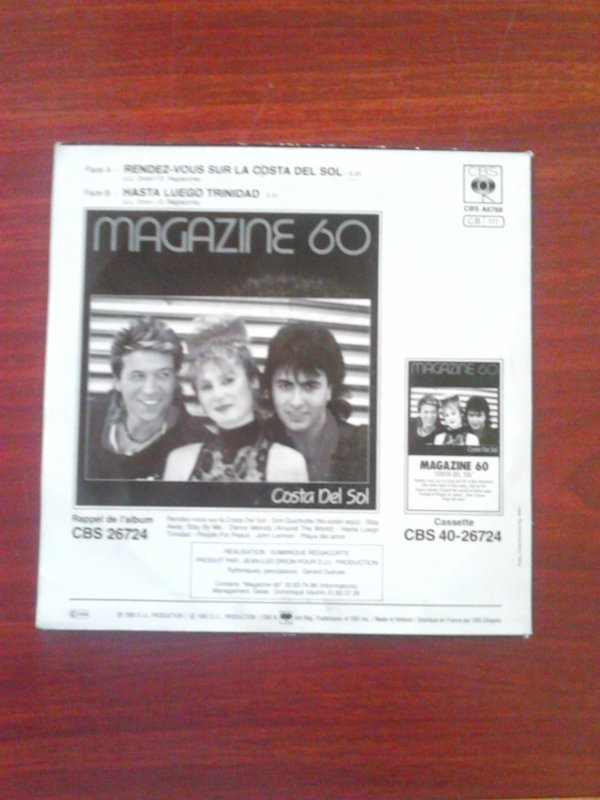 France Gall, Alain Souchon, Corynne Charby et Magazine 60 45 Tours
