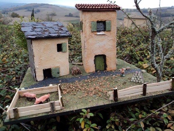 petit diorama maisons pour marche de noel
