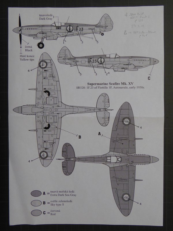 SUPERMARINE SEAFIRE MkXV de l'AERONAVALE - 1950 3268516892_1_4_ClrDc9MD