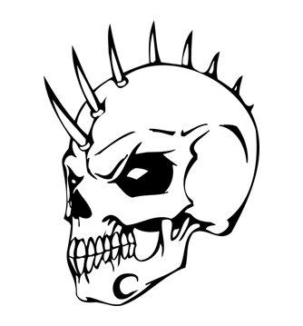 Tete de mort doom doom - Tete de mort dessin simple ...