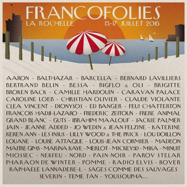 Bernard Lavilliers aux Francofolies de La Rochelle 13-17 juillet 2016