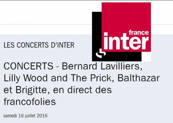 Lavilliers sur France inter le 16 juillet 2016 � 20h00