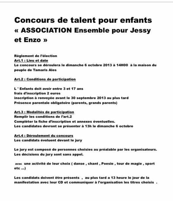 Concours de talent pour enfants